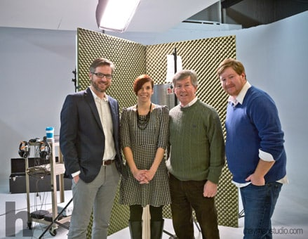 Gary and Ryan with Kelley Gibson and Dave Kennedy after Dave recorded the voice-over for the Campaign Kickoff video.