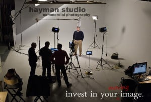 Dave Riebe, President of Pennex, on set of a recent video shoot.